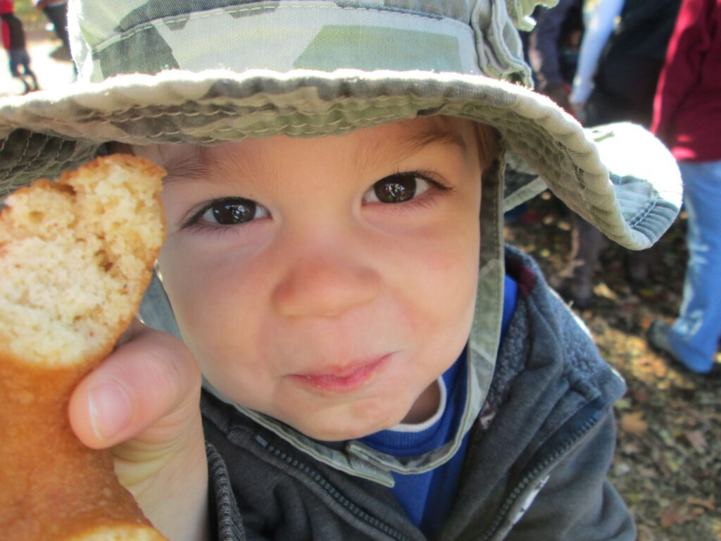 Kid with a donut